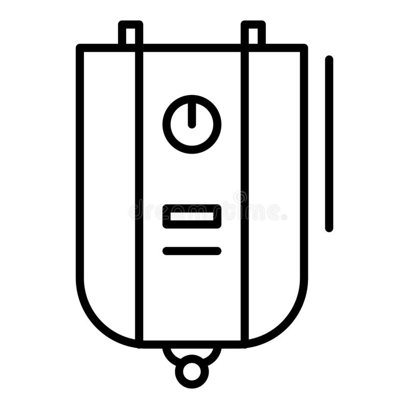 Boiler icon, outline style royalty free illustration