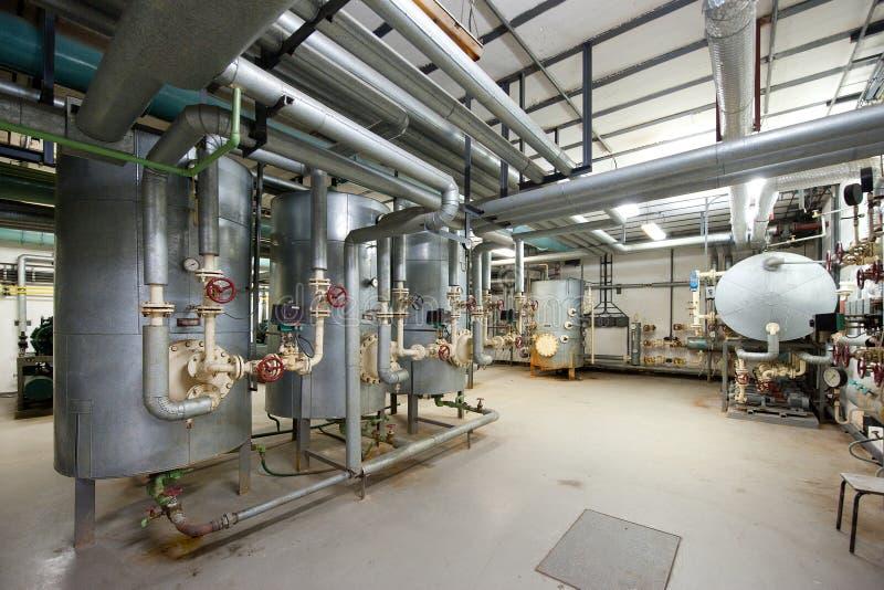 Boiler room stock image