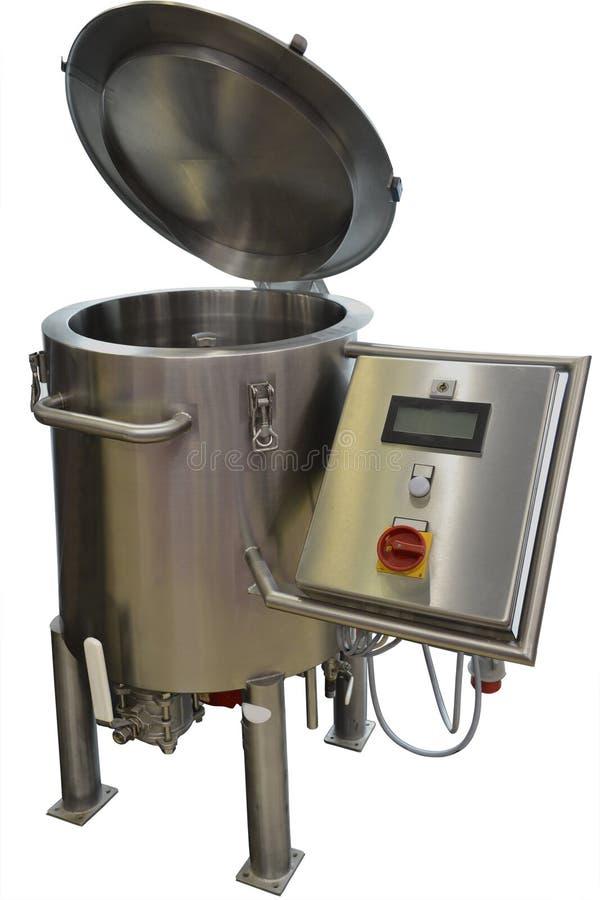 Boiler voor het koken van stroop en karamel stock afbeeldingen