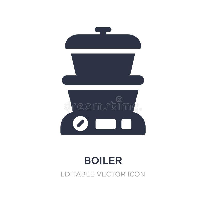 Boilerpictogram op witte achtergrond Eenvoudige elementenillustratie van Voedselconcept stock illustratie