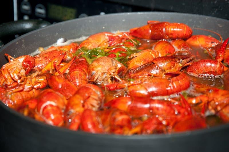 Boiling crawfish royalty free stock photo