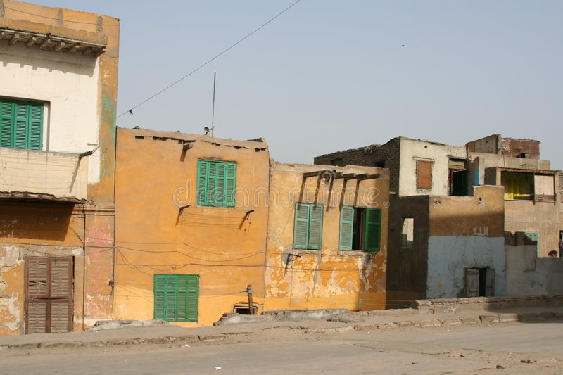 Boiling Home. Houses in Cairo, Egypt stock photos