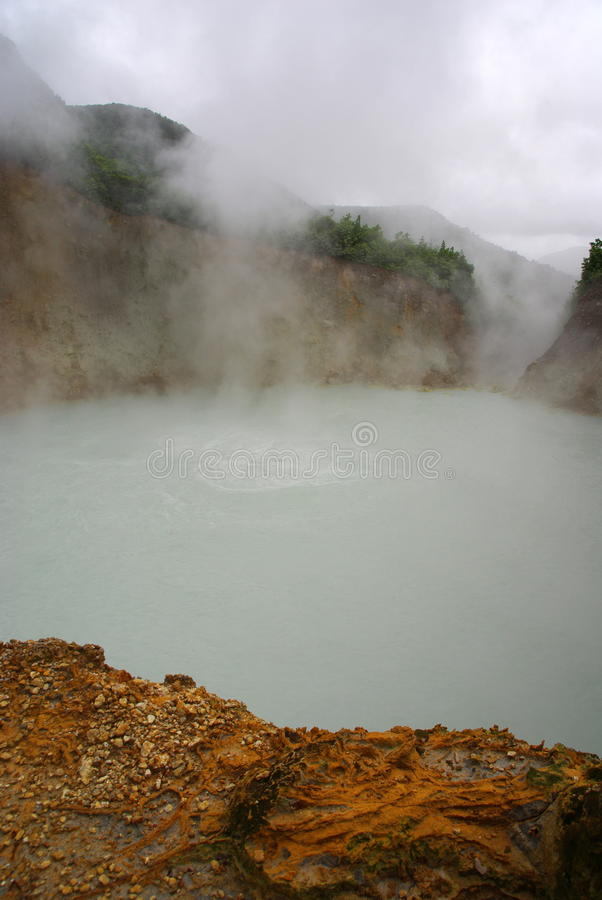 Boiling lake, Dominica royalty free stock photography