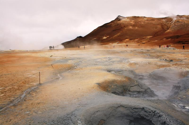 Boiling mud stock photography