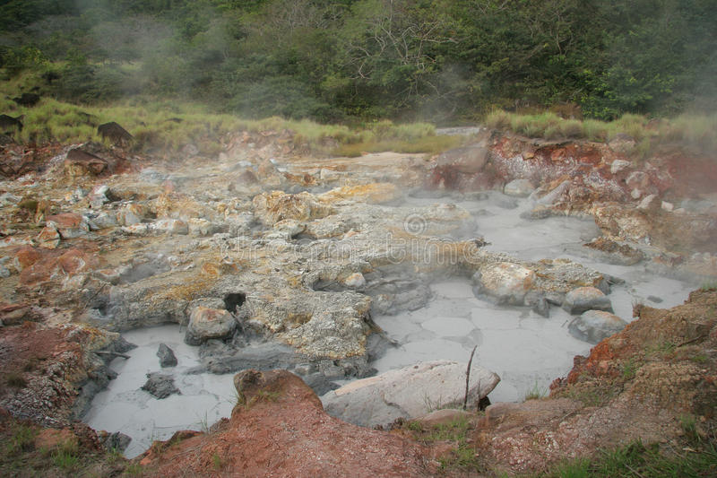 Boiling Mud Pot - Rincon de la Vieja, Costa Rica. Boiling Mud Pot - Rincon de la Vieja National Park, Costa Rica stock image