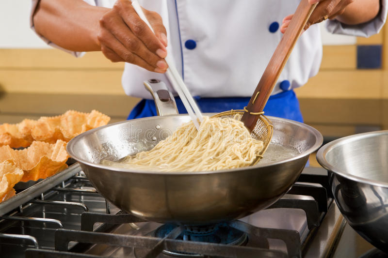 Download Boiling the noddle stock image. Image of boil, chopstick - 14064165