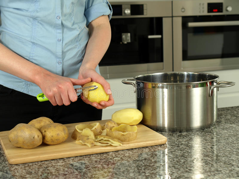 Download Boiling potatoes stock photo. Image of kitchen, peeling - 24874036