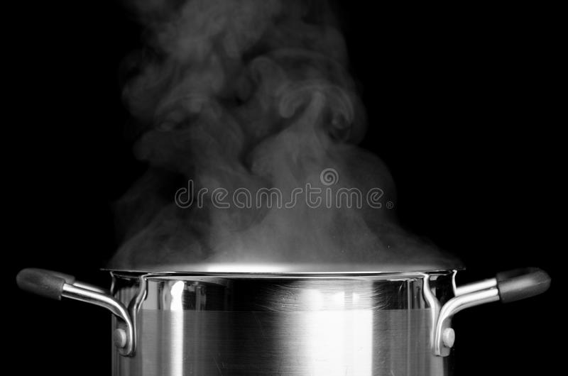 Boiling water stock image