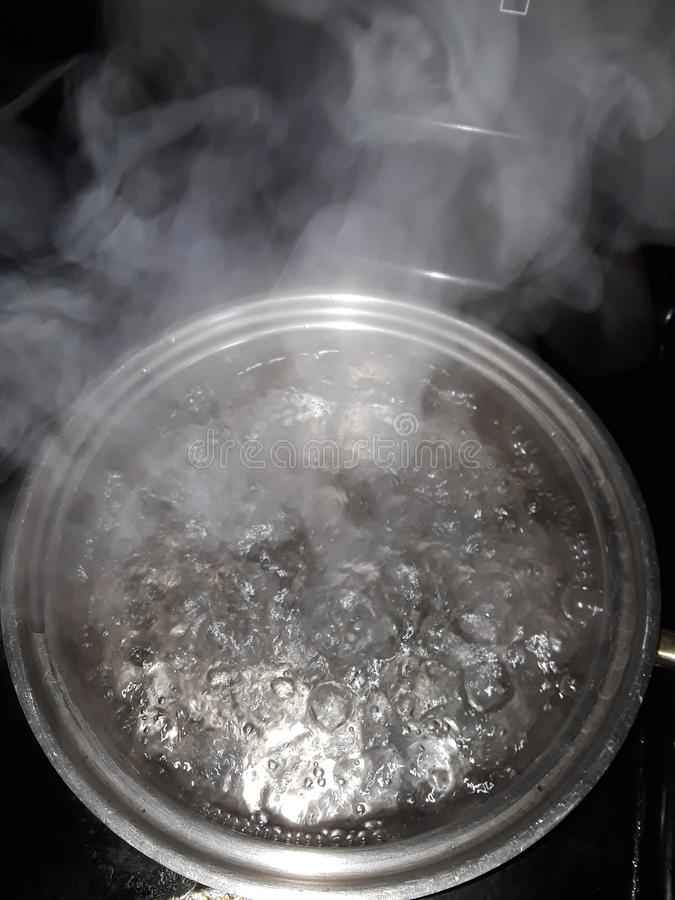 Boiling water royalty free stock images