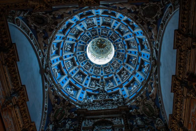The Boim Chapel Lviv Ukraine interior history. Architecture travel Europe royalty free stock photo