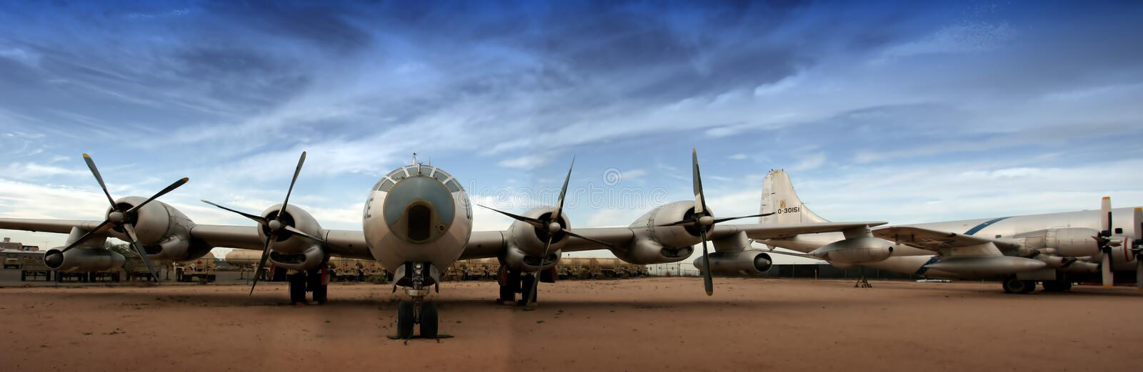 Boing B-29 Superfortress (großes Panorama) stockbild