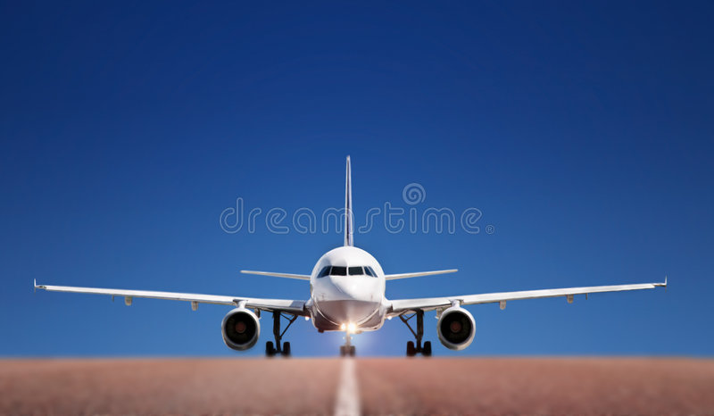 Download Boing on runway stock image. Image of airport, exclusive - 5787827