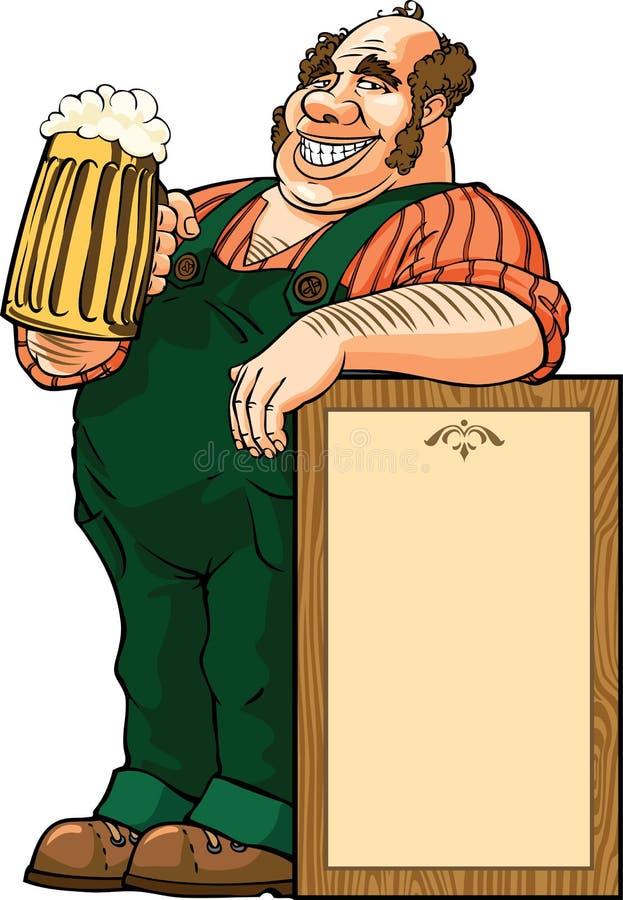 Boire de bière illustration de vecteur