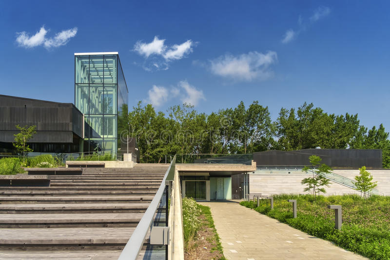Boisé Library. With construction of the Bibliothèque du Boisé completed, the Borough of Saint-Laurent is actively moving ahead with the process to stock photos