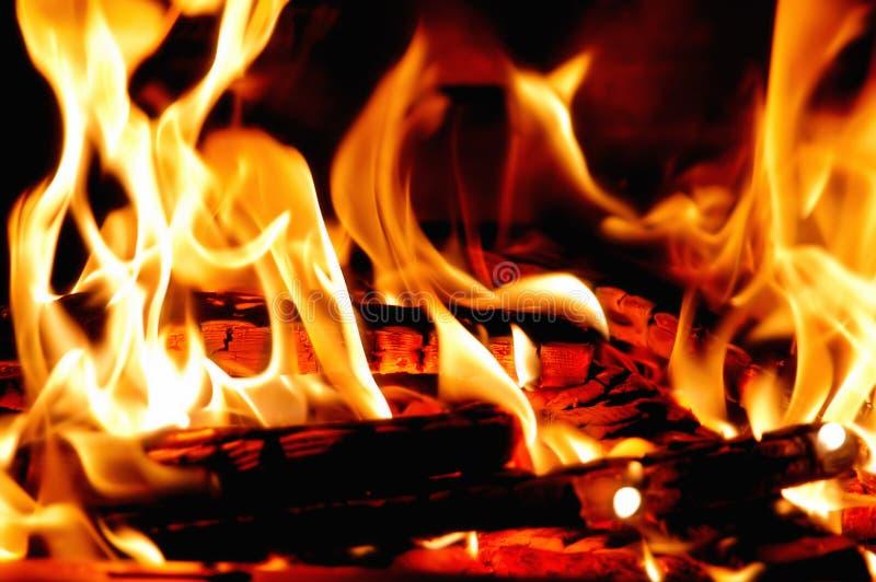 bois brûlant photographie stock