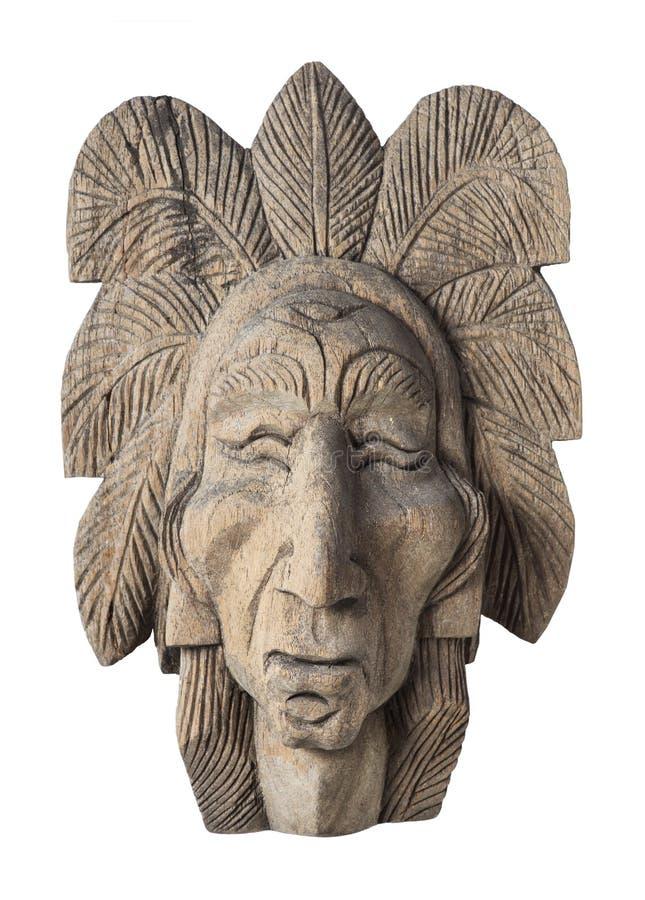 bois d coup de la t te de chef indien image stock image du cherokee indien 39942815. Black Bedroom Furniture Sets. Home Design Ideas