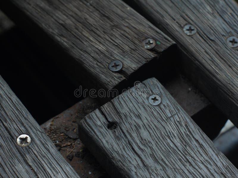 Bois défectueux en bois de vieux grain en bois photographie stock libre de droits