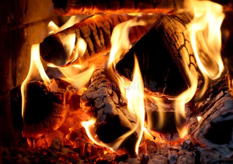 Bois d'incendie photo libre de droits