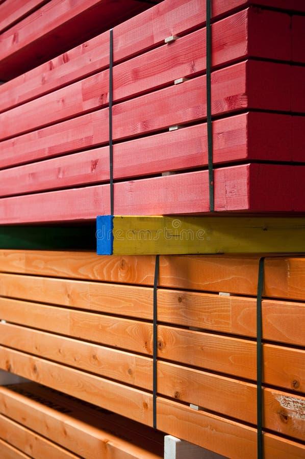 Bois de charpente coloré photo stock