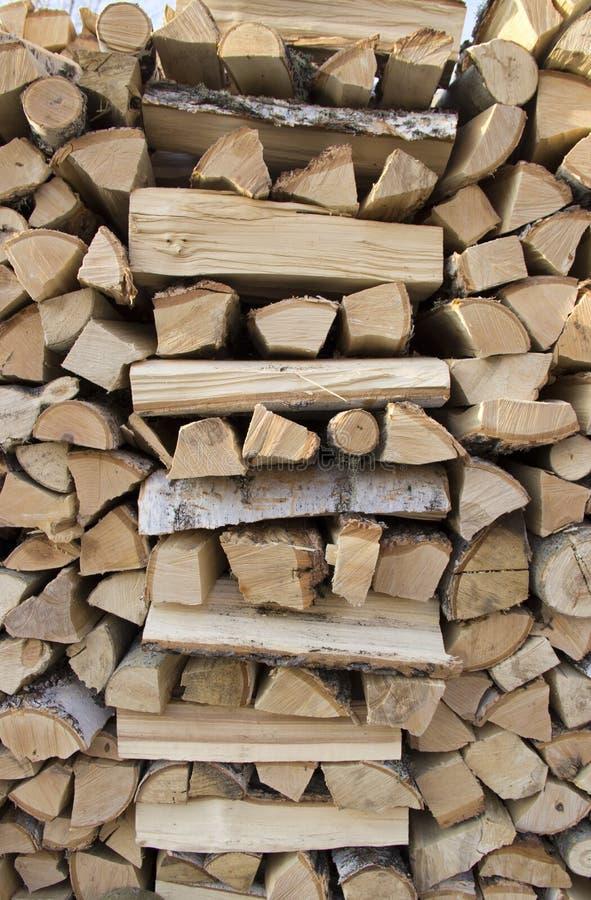 Bois de chauffage de bouleau photos stock