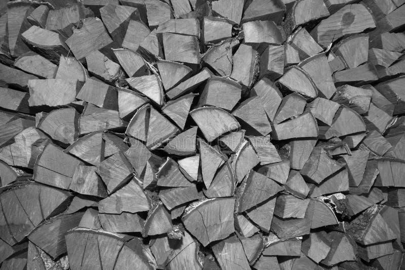Bois de chauffage coupé empilé Rebecca 36 photographie stock libre de droits