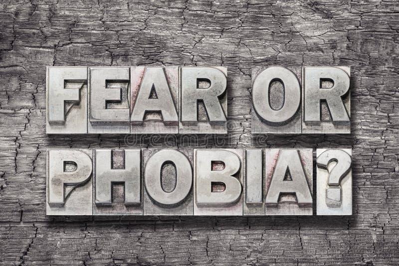 Bois de crainte ou de phobie photos libres de droits