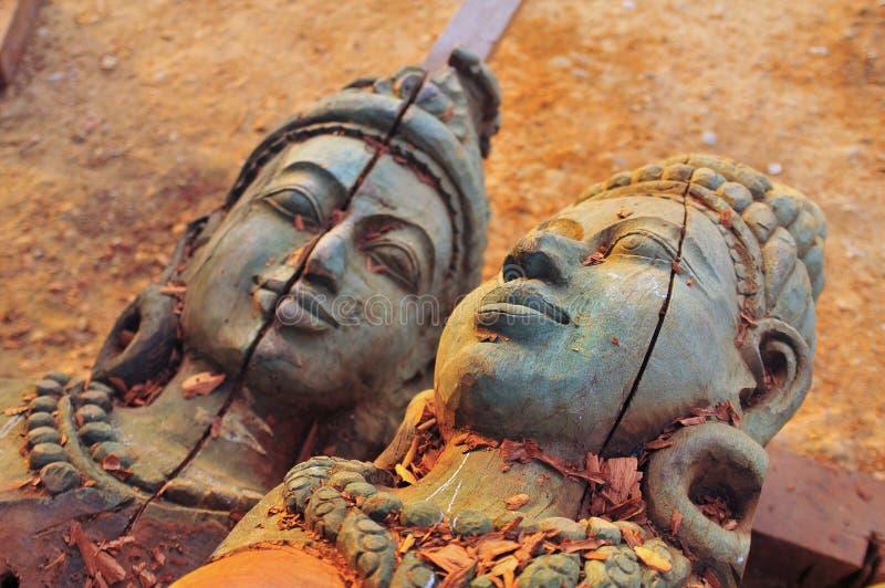 bois de la Thaïlande de sculpture photo libre de droits