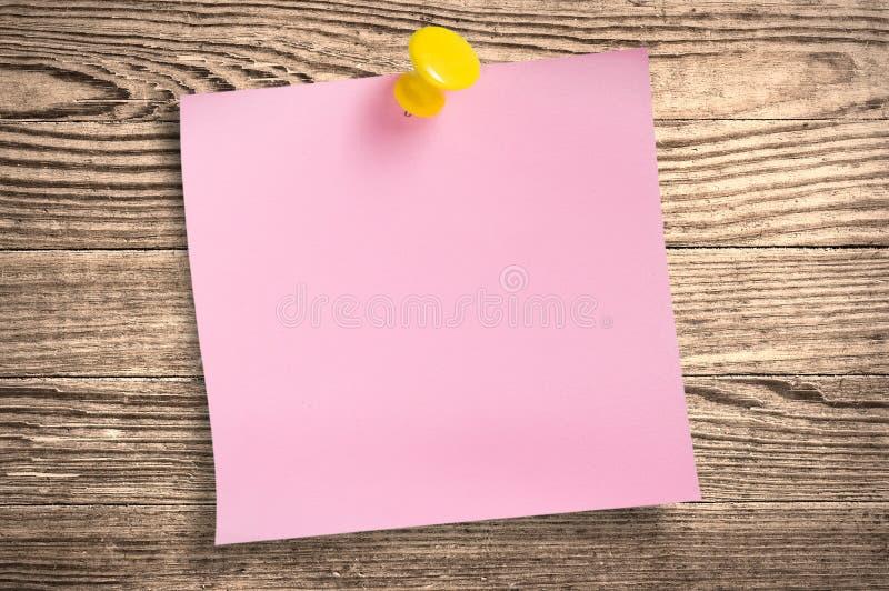 bois de rose de circuit papier de note de découpage photographie stock libre de droits