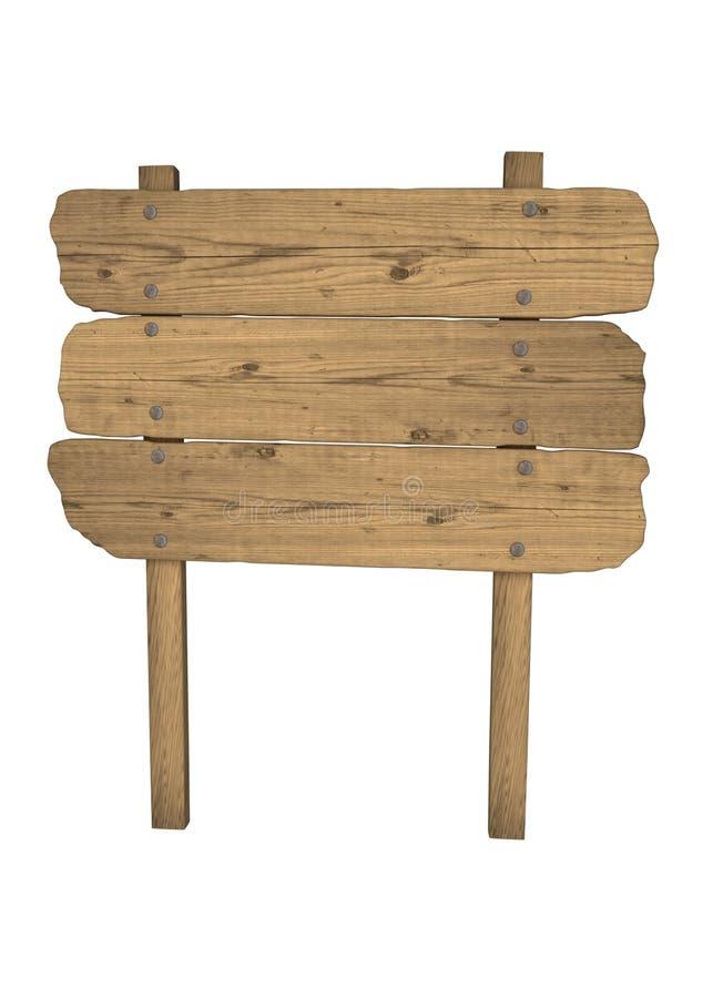 bois de signe illustration stock