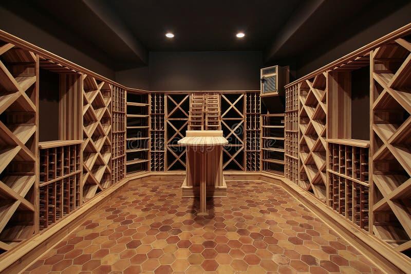 bois de vin de cave image stock