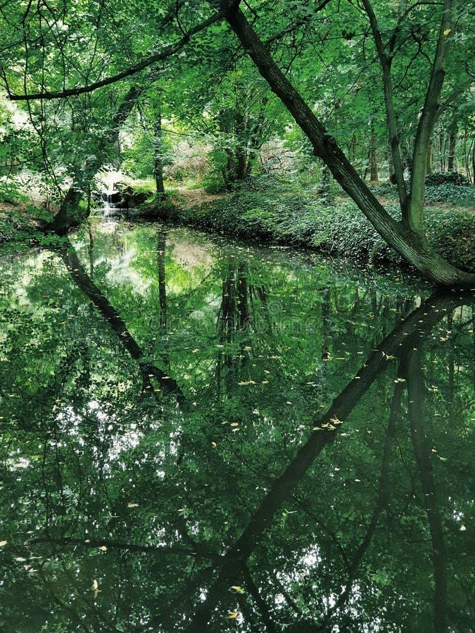 Bois de Vincennes, biggest public park of Paris stock photography