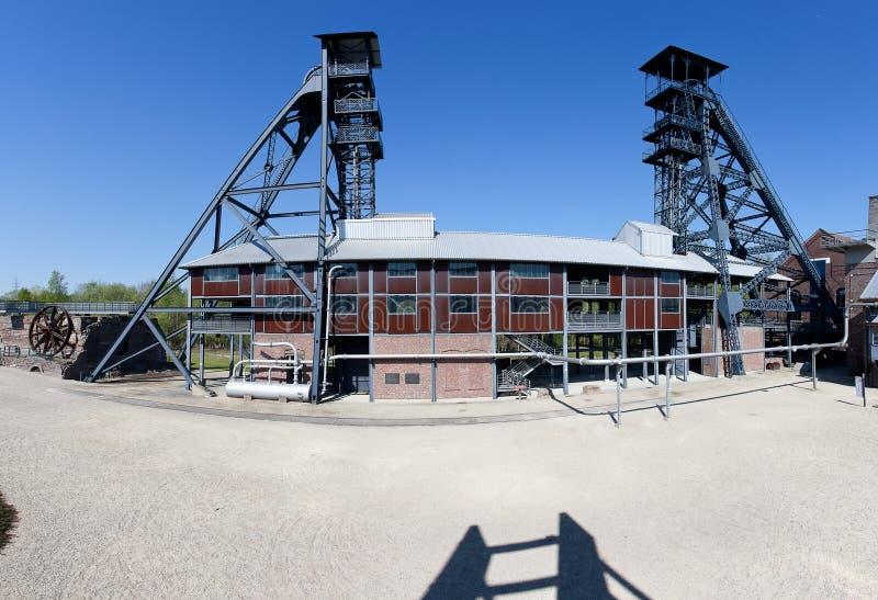 Bois du Cazier, угольная шахта башни подъема, Marcinelle, Шарлеруа, Бельгия стоковое изображение