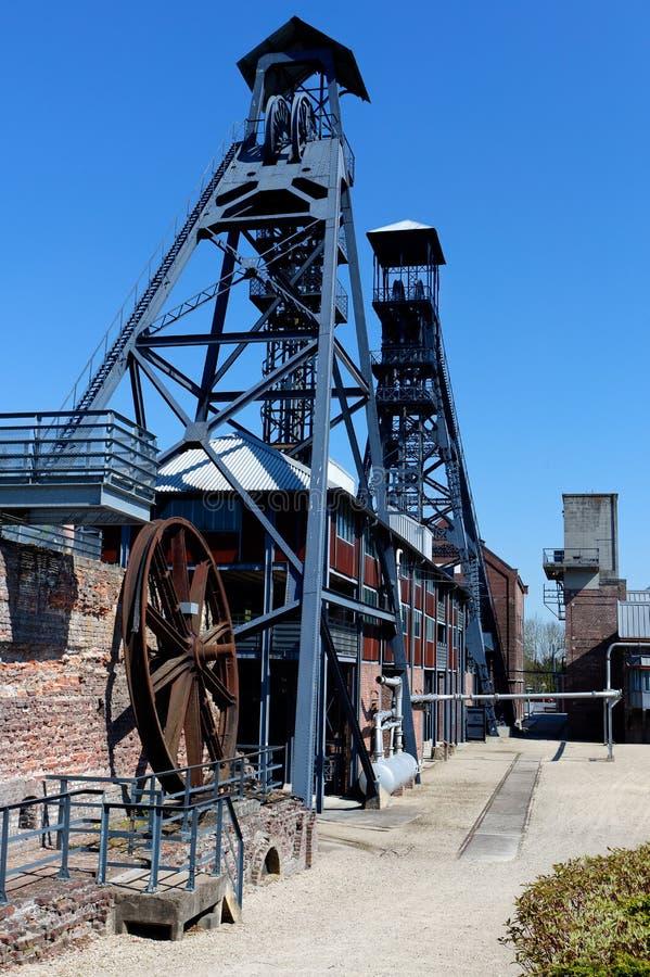 Bois du Cazier, угольная шахта, Marcinelle, Шарлеруа, Бельгия стоковые фотографии rf