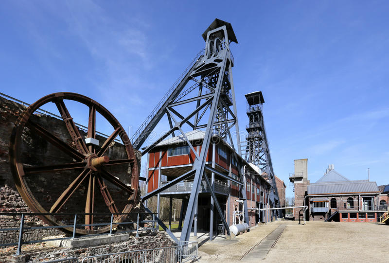 The Bois du Cazier, former coal mine, Marcinelle, Charleroi, Belgium. The Bois du Cazier was coal mine in Marcinelle, Charleroi, Belgium. It was the scene of a stock photo