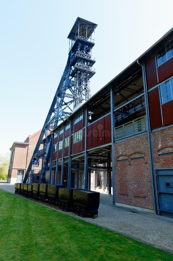 Bois du Cazier, lift tower coal mine, Marcinelle, Charleroi, Belgium royalty free stock photos