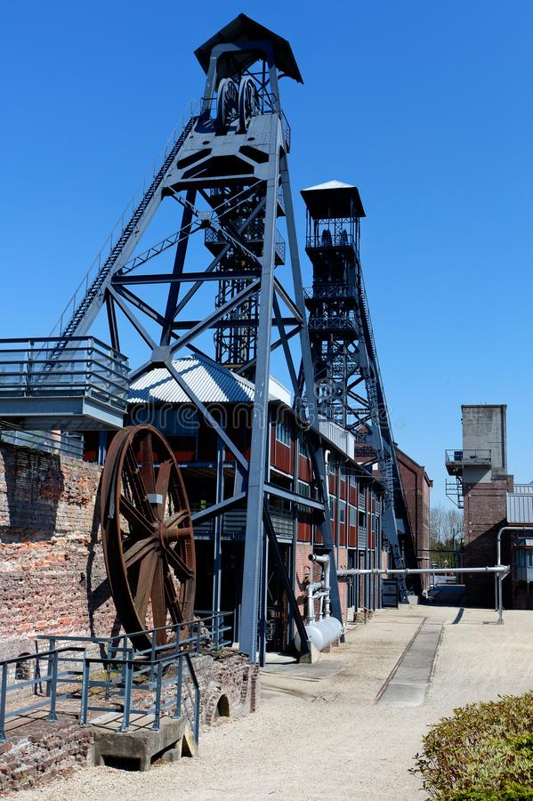 Bois du Cazier, mina de carb?n, Marcinelle, Charleroi, B?lgica fotos de archivo libres de regalías
