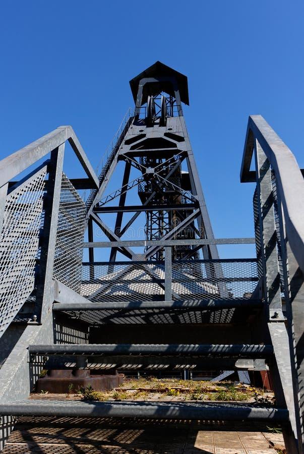 Bois du Cazier, mina de carv?o, Marcinelle, Charleroi, B?lgica fotos de stock