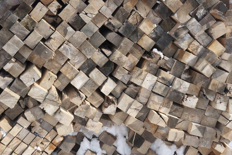 Bois empilé de coupe photographie stock