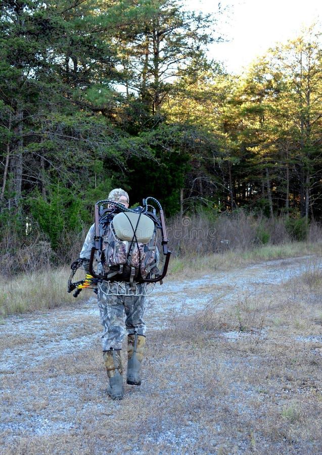 Bois entrants de chasseur d'arc image libre de droits