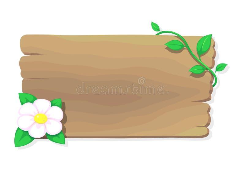 Bois et fleur, vecteur illustration libre de droits