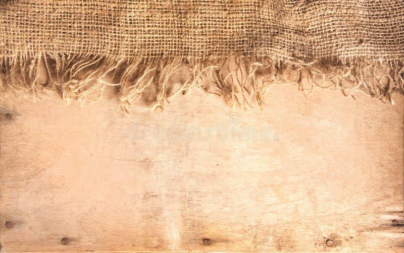 Bois et textile de chanvre images libres de droits