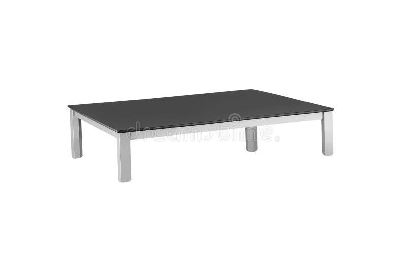 Bois foncé de table basse d'isolement photographie stock