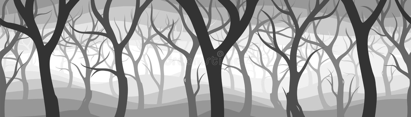 Bois foncés illustration libre de droits