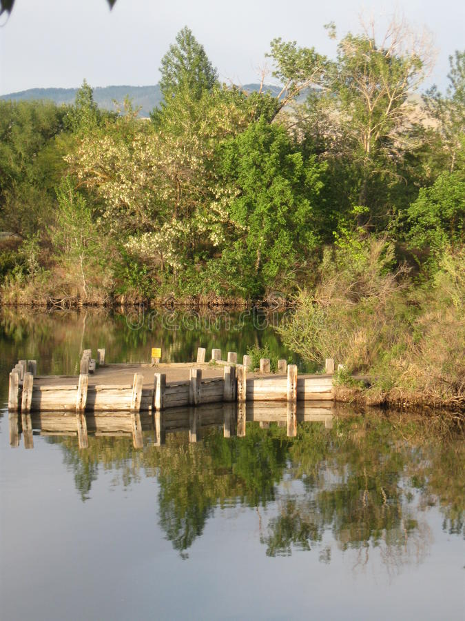 Download Boise Cascade Lake Dock And Reflections Stock Image - Image of splash, crystal: 82207221