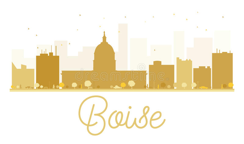 Boise City skyline golden silhouette. vector illustration