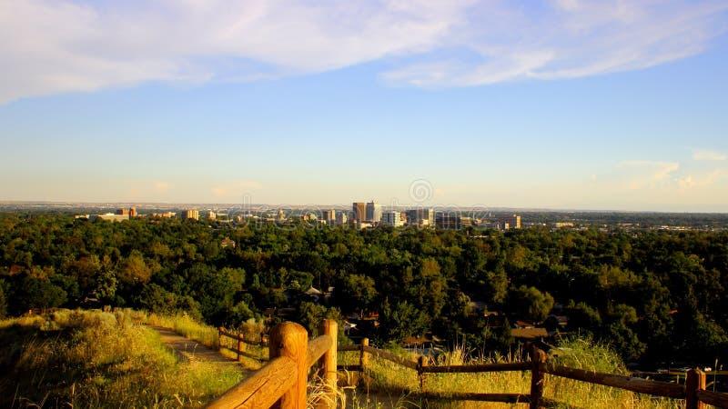 Boise, de Horizon van Idaho stock fotografie