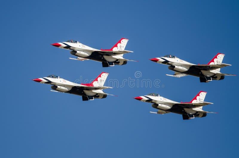 """Boise, Idaho, †di U.S.A. """"15 ottobre 2017 I Thunderbirds dell'aeronautica di Stati Uniti che eseguono al Gowen tuonano Airshow fotografia stock"""