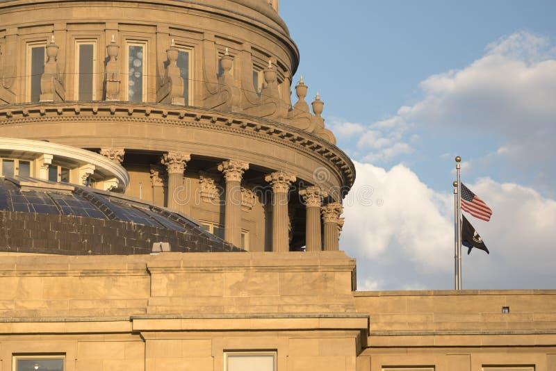 Boise Idaho Capital City Downtown Capitol Building Legislative Center stock images