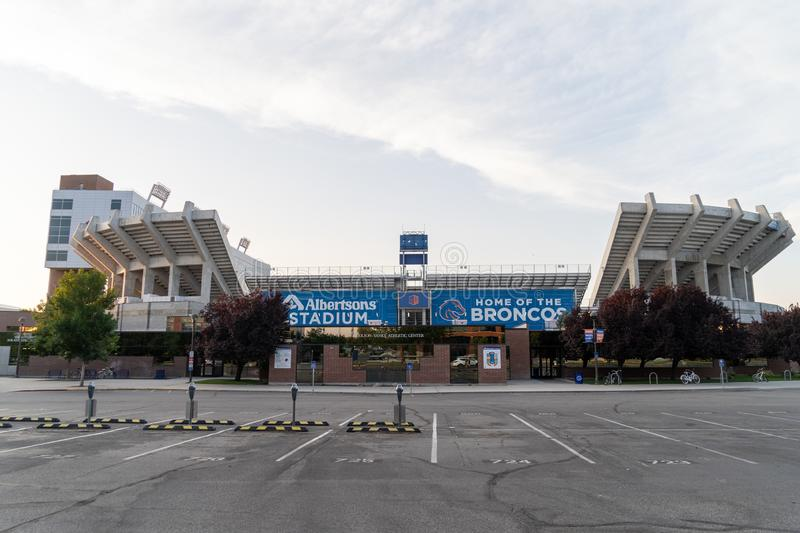 Exterior view of the Albertsons Stadium, home of the Boise State Broncos football team. Boise, Idaho - Exterior view of the Albertsons Stadium, home of the Boise stock photo