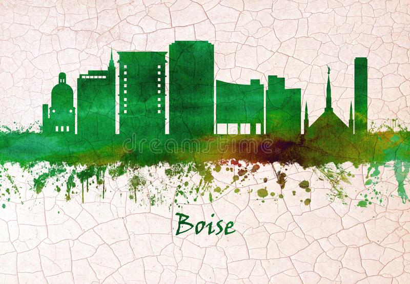 Boise Idaho skyline stock illustration